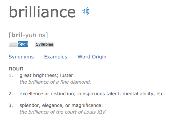 Brilliance definition