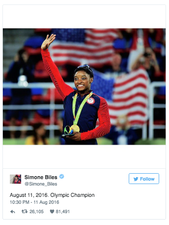 Photo Credit: Simone Biles Twitter